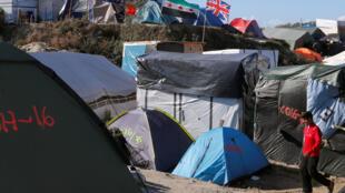 Jungle de Calais, le 25 septembre 2016.