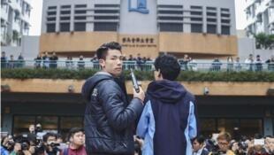 香港浸會大學學生抗議資料圖片