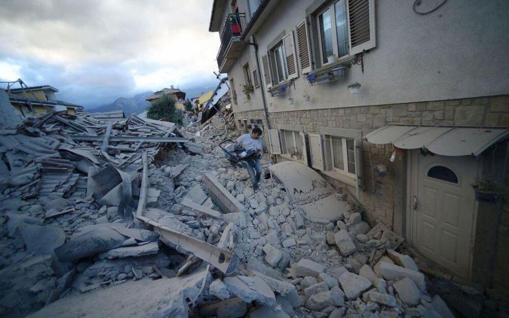 Le village détruit d'Amatrice, dans le centre de l'Italie, après le séisme du 24 août.
