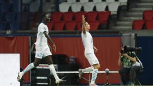 Le Marseillais Florian Thauvin après son but contre le PSG, le 13 septembre 2020.