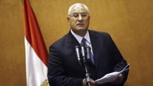Le président par intérim égyptien, Adly Mansour, a annoncé la tenue d'élections présidentielle et législatives d'ici 2014.
