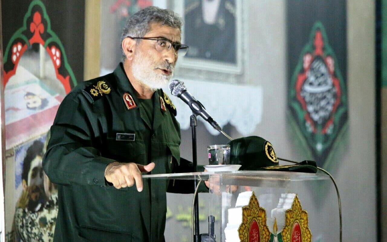 اسماعیل قاآنی فرماندۀ سپاه قدس.