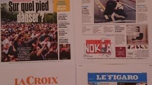 Primeiras  páginas  de  diários franceses  23 06 2020