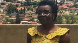 Victoire Ingabire à Kigali au Rwanda en avril 2019.