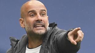 L'entraîneur de Manchester City Pep Guardiola lors d'un match contre Newcastle, le 8 juillet 2020 à l'Etihad Stadium