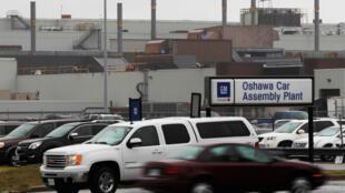 Le site d'assemblage du constructeur automobile General Motors à Oshawa, au Canada.