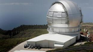 Le plus grand téléscope optique infrarouge du monde, installé sur l'île de Palma, aux Canaries.