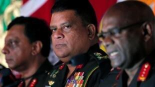Shavendra Silva, alors chef d'état-major de l'armée, lors d'une conférence à Colombo, au Sri Lanka, le 16 mai 2019.