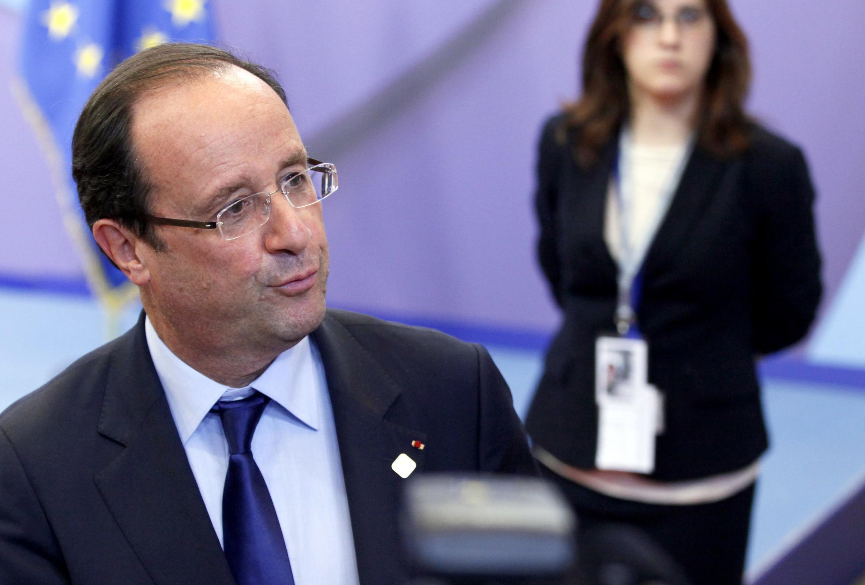 Президент Франции Франсуа Олланд на европейском саммите в Брюсселе в пятницу 29 июня 2012 г.