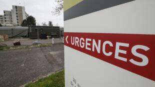 L'hôpital Emile-Muller à Mulhouse, dans l'est de la France, où un hôpital militaire a été installé le 22 mars 2020.