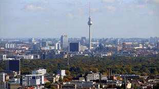 Une vue de Berlin, capitale et plus grande ville d'Allemagne (Image d'illustration).