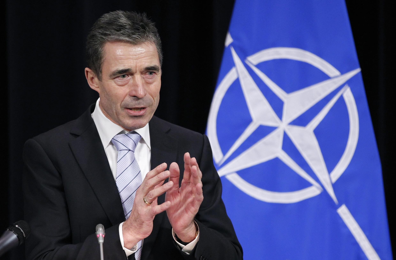 Le secrétaire général de l'OTAN, Anders Fogh Rasmussen, le 3 février 2012 à Bruxelles.