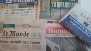 Primeiras páginas dos jornais franceses de 24 de maio de 2019