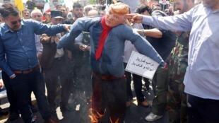 2019年5月伊朗反美抗議資料圖片
