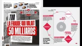 Denúncia de fraude bilionária contra a TVA europeia é matéria de capa do jornal Libération.