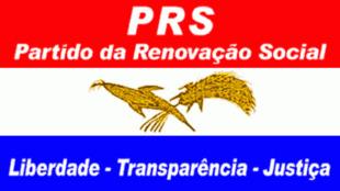Bandeira do PRS na Guiné Bissau, cujo líder Alberto Nambeia é contestado
