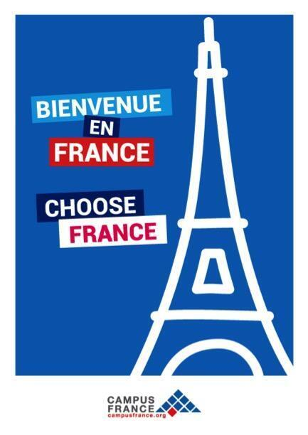 Logo kế hoạch Choose France của bộ Đại học, Nghiên cứu Pháp, được công bố ngày 19/11/2018.