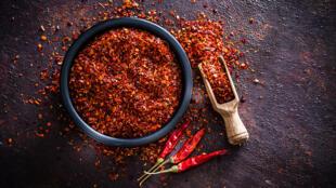 Flocons de piment rouge