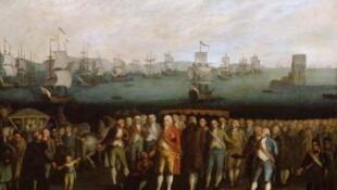 Embarque da Família Real Portuguesa - Autor desconhecido, Séc. XIX