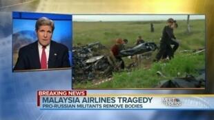 John Kerry lors de son interview sur NBC News, le 20 juillet 2014.