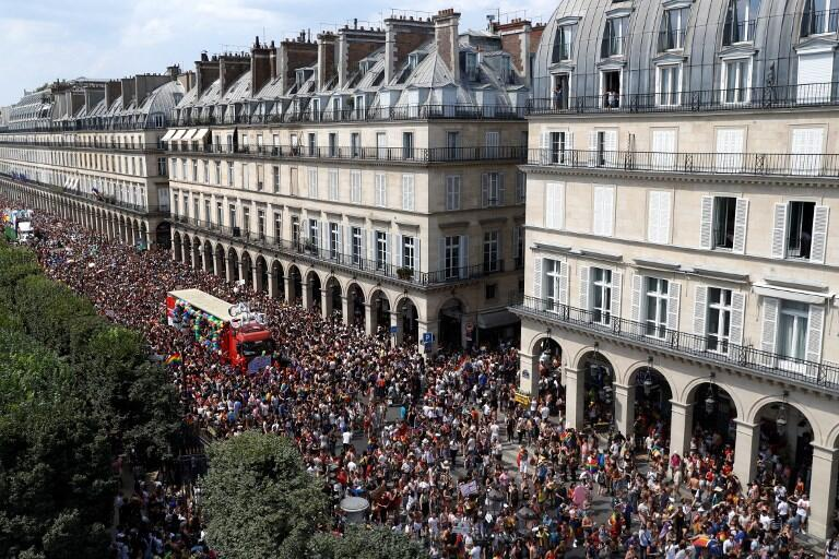 The Gay Pride parade in Paris, 30 June 2018