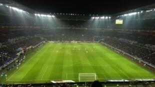Trận đấu giữa Olympique Lyonnais và Olympique Marseille ngày 26/01/2016.