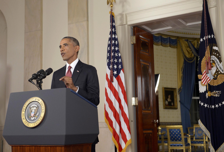 Tổng thống Barack Obama thông báo kế hoạch tấn công Nhà nước Hồi giáo, Nhà Trắng, Washington, 10/09/2014.