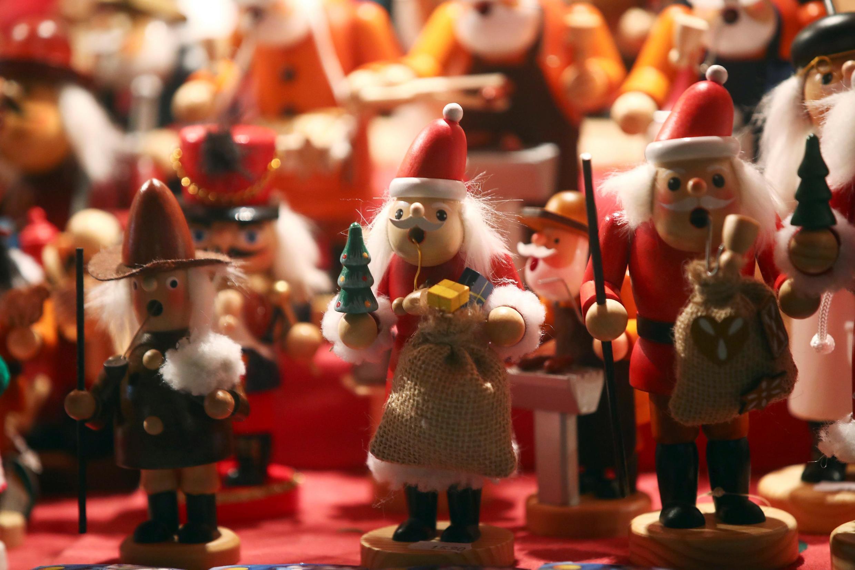 德國紐倫堡一處聖誕市場的裝點