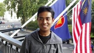 Asyraf Haziq Rosli a participé à une conférence de presse à l'ambassade de Malaisie à Londres, le 11 août 2011.