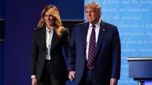 Shugaban Amurka Donald Trump tare da matarsa Melania Trump.