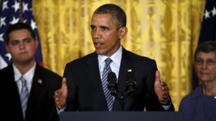 O presidente Barack Obama durante a apresentação do seu plano contra as alterações climáticas 03/08/2015
