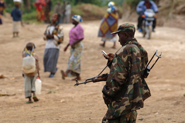 Un soldat rwandais en RDC, en janvier 2009. (Image d'illustration)