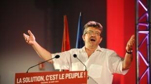 Jean-Luc Mélenchon, député européen et cofondateur du Front, à Toulouse le 30 août 2015.