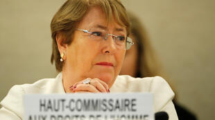 UN High Commissioner for Human Rights Michelle Bachelet attends the Human Rights Council at the United Nations in Geneva, Switzerland, 10 September 2018.