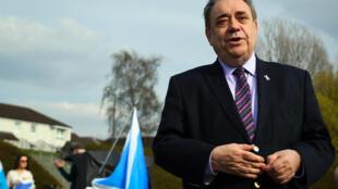 El ex primer ministro escocés y líder del nuevo partido independentista, Alex Salmond, en Glasgow el 19 de abril de 2021