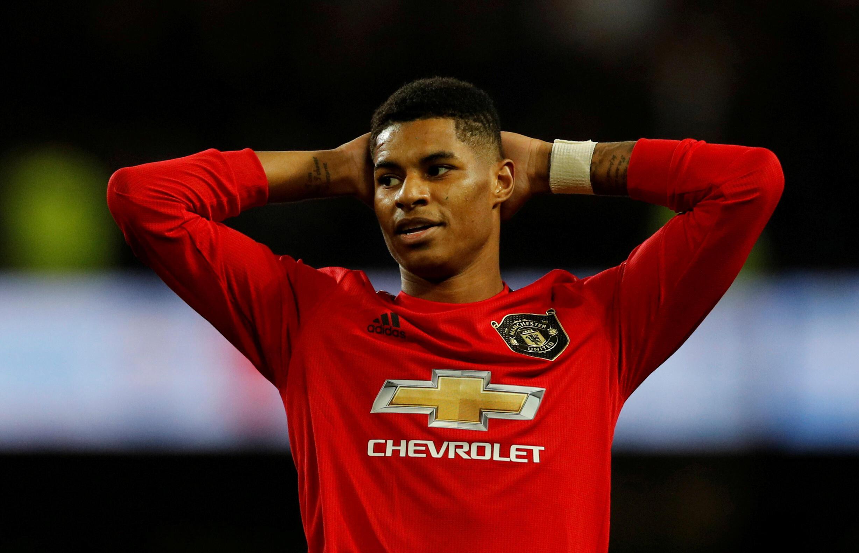 Dan wasan gaba na Manchester United Marcus Rashford