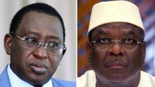 Les deux candidats pour le second tour de la présidentielle malienne prévu le 11 août 2013 : Soumaïla Cissé (G) et Ibrahim Boubacar Keïta (D).