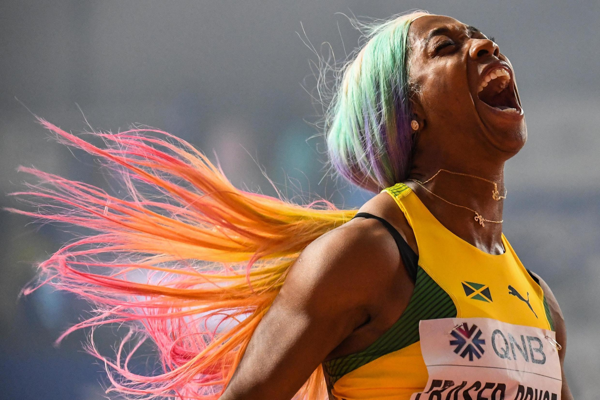 Shelly-Ann Fraser-Pryce won her first world championship gold in the 100 metres 10 years ago in Berlin.