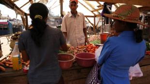 Sur le marché de Ambohibary, à 150 kilomètres au sud d'Antananarivo.