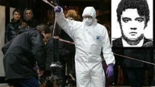 Полиция эвакуирует тело Александра Перепиличного. 10 ноября 2012 года