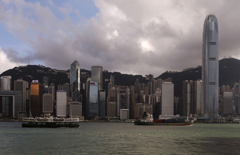 Le quartier des affaires de Hong Kong, 18 juin 2014.
