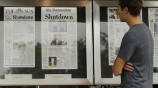 美国媒体聚焦政府停摆