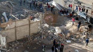 以色列上月曾经空袭过加沙地带