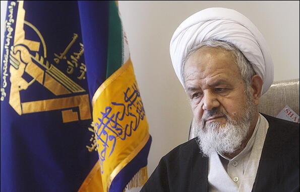 حجتالاسلام علی سعیدی، رئیس دفتر عقیدتی-سیاسی و نمایندۀ آیتالله خامنهای در نیروهای مسلح جمهوری اسلامی.