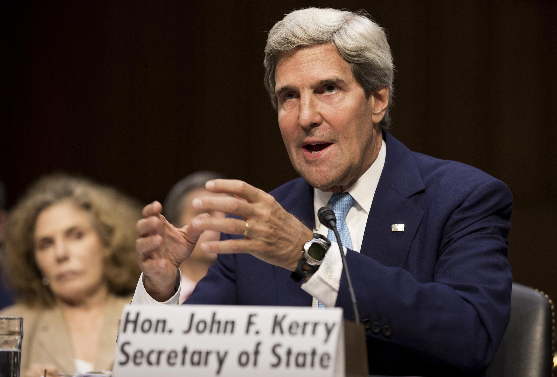 Ông John Kerry điều trần trước Tiểu ban Đối ngoại của Thượng viện Mỹ - REUTERS /J. Roberts