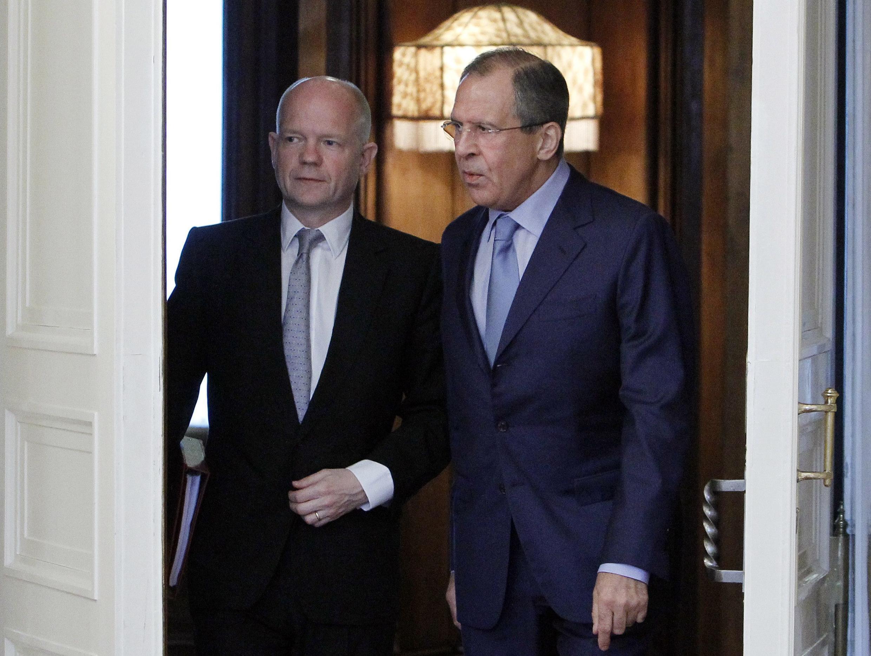Уильям Хейг и Сергей Лавров, Москва, 28 мая 2012 года