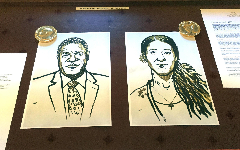 برندگان جایزۀ نوبل صلح ٢٠١٨، «دُنی موکوگه»، پزشکی که «زنان را ترمیم میکند»، و «نادیا مُراد»، دخ