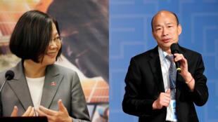 La présidente Tsai Ing-wen et Han Kuo-yu, candidat du principal parti d'opposition le Kuomintang, s'affronteront en 2020 lors de l'élection présidentielle.