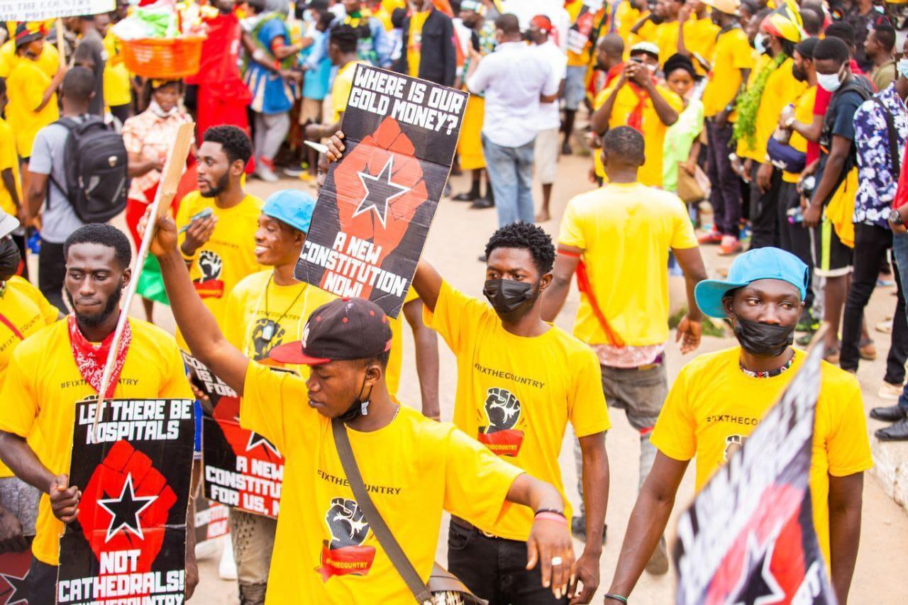 manifestation ghana