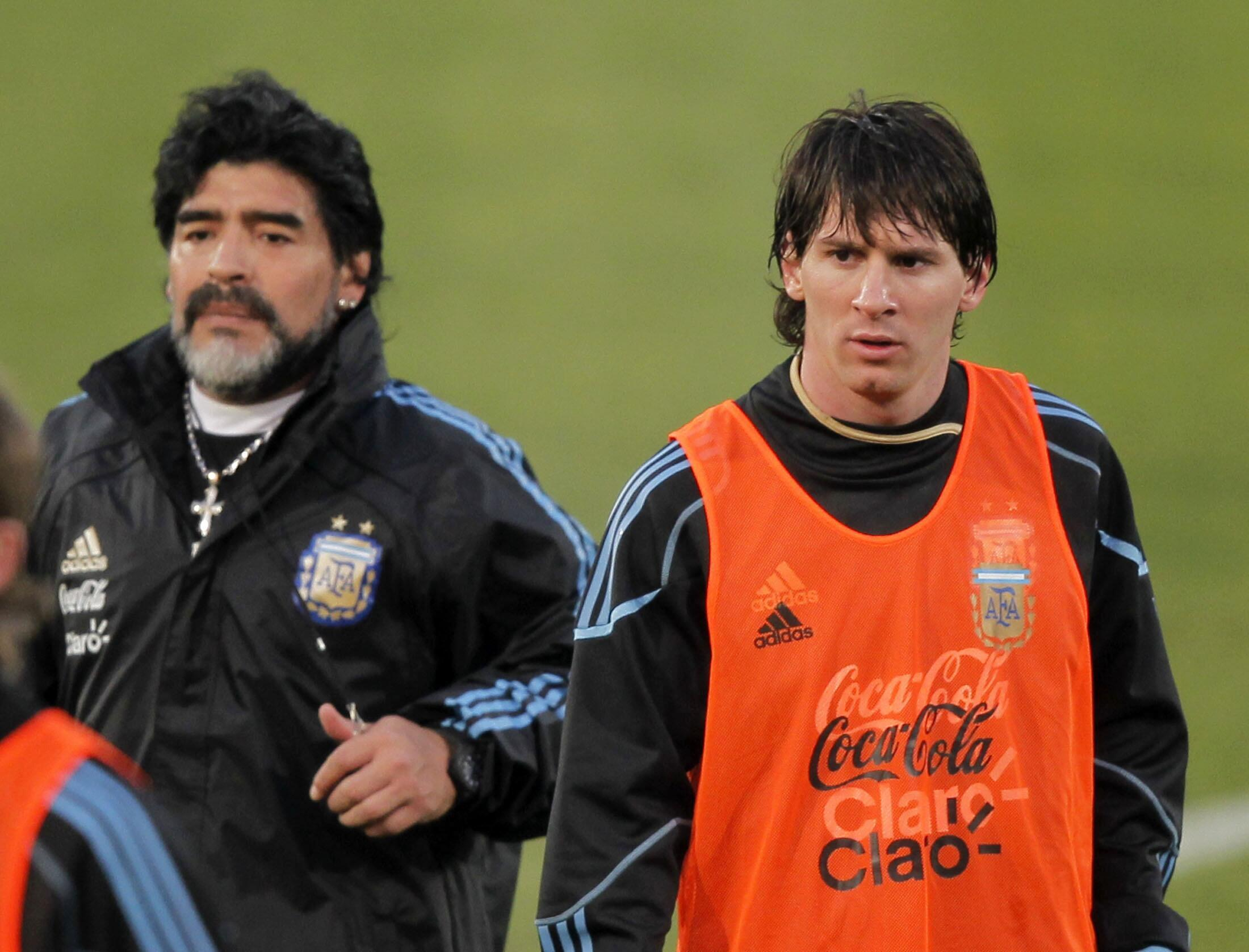 Diego Maradona da Lionel Messi